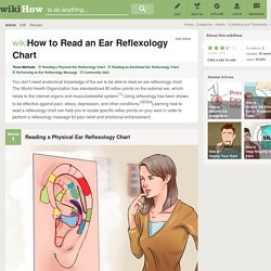 3 Ways to Read an Ear Reflexology Chart