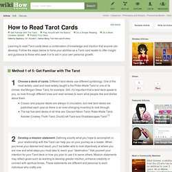 5 Ways to Read Tarot Cards