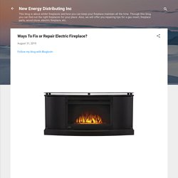Ways To Fix or Repair Electric Fireplace?