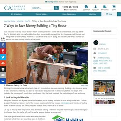 7 Ways to Save Money Building a Tiny House