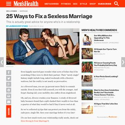 25 Ways to Save Your Marriage (And Your Life)