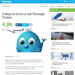 6 Ways to Score a Job Through Twitter