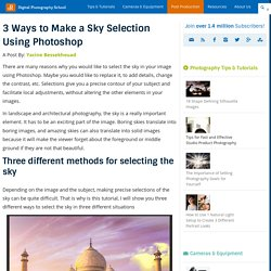 3 Ways to Make a Sky Selection Using Photoshop