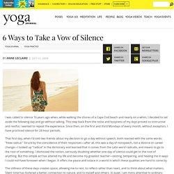 Appreciate the Value of Silence