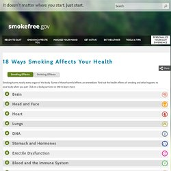 18 Ways Smoking Affects Your Health
