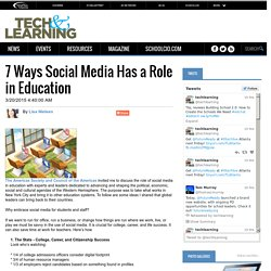 7 Ways Social Media Has a Role in Education #edtechbc