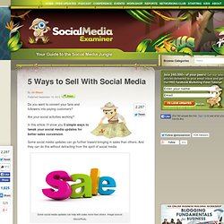 5 Ways to Sell With Social Media