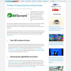 10 Ways To Speed Up Torrent Downloads
