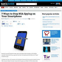7 Ways to Stop NSA Spying on Your Smartphone – Tom's Guide