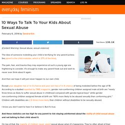 10 Ways To Talk To Your Kids About Sexual Abuse