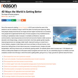 40 Ways the World Is Getting Better