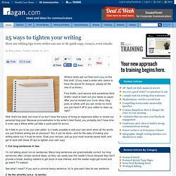 25 ways to tighten your writing