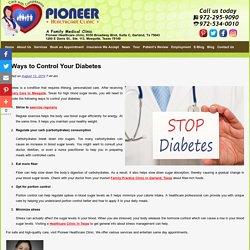 5 Ways to Control Your Diabetes