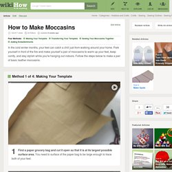 4 Ways to Make Moccasins