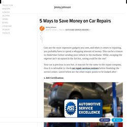 Want to save money on your car Repair? Read this!