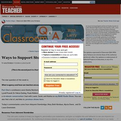 Ways to Support Student Agency