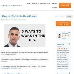 5 Ways to Work in the United States
