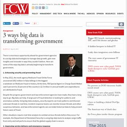 3 ways big data is transforming government