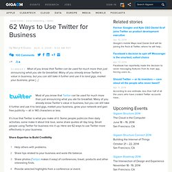 http://webworkerdaily.com/2009/08/03/62-ways-to-use-twitter-for-