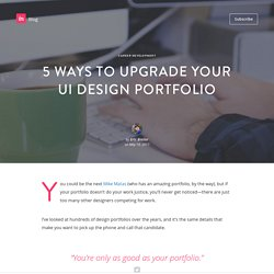5 ways to upgrade your UI design portfolio