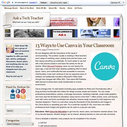 13 Ways to Use Canva in Your Classroom