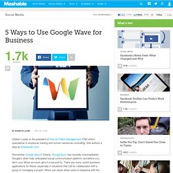 5 Ways to Use Google Wave for Business