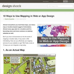 10 Ways to Use Mapping in Web or App Design