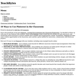 10 Ways to Use Pinterest in the Classroom