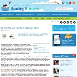 10 Ways to Use Poetry in Your Classroom