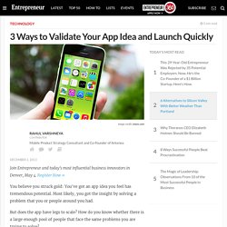 3 Ways to Validate Your App Idea and Launch Quickly
