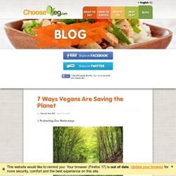 7 Ways Vegans Are Saving the Planet