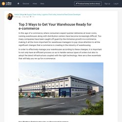 Top 3 Ways to Get Your Warehouse Ready for e-commerce