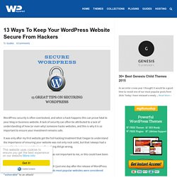 13 Ways To Keep Your WordPress Website Secure