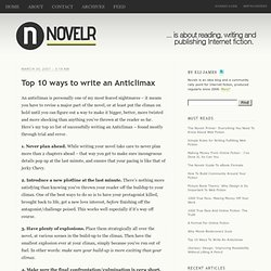 Top 10 ways to write an Anticlimax