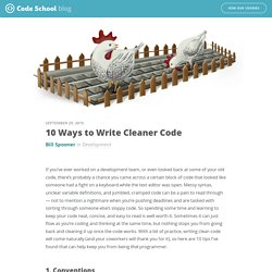 10 Ways to Write Cleaner Code - Code School Blog