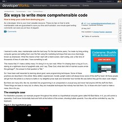 Six ways to write more comprehensible code