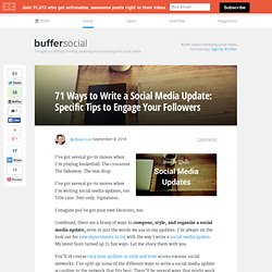 71 Ways to Write a Social Media Update