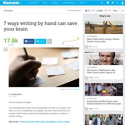 7 ways writing by hand can save your brain