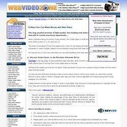 12 Ways You Can Make Money with Web Video