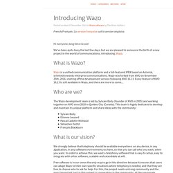Wazo Blog – Introducing Wazo
