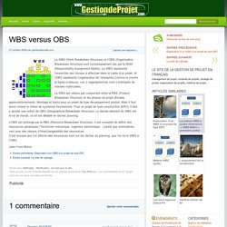 WBS versus OBS