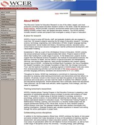 WCER: About WCER