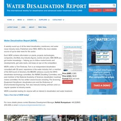 WDR | Water Desalination Report