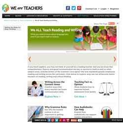 We All Teach Reading and Writing