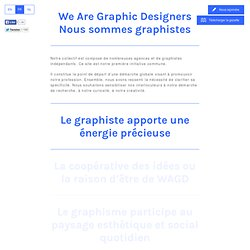 We Are Graphic Designers