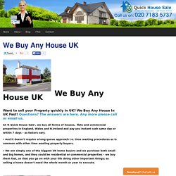 Quick House Sale UK