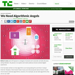 We Need Algorithmic Angels