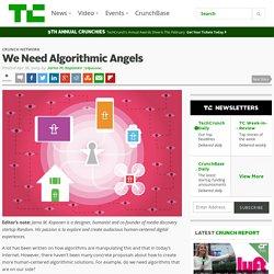 We Need Algorithmic Angels