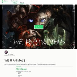 WE R ANIMALS by Thobias Hoffmen