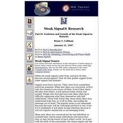 weak signal research 4